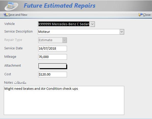 Future Repairs